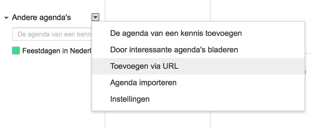 Screenshot Google Calendar