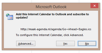Screenshot Microsoft Outlook 2